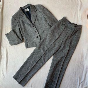 Vintage Miss Pendleton Gray 3 Piece Wool Suit